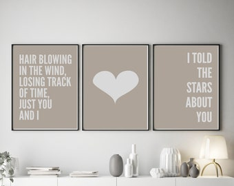Set of 3 Just You and I Colour Pop Prints