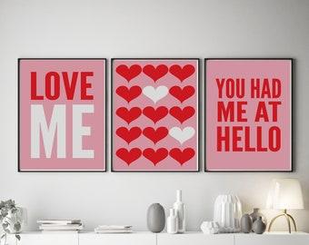 Set of 3 Love Me Colour Pop Prints