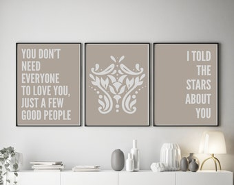 Set of 3 You Don't Need Everyone Colour Pop Prints
