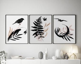 Set of 3 Delicate Floral Prints