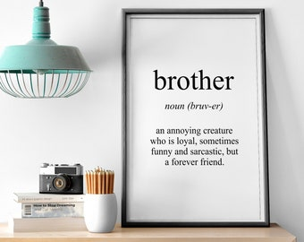 Brother Meaning Print