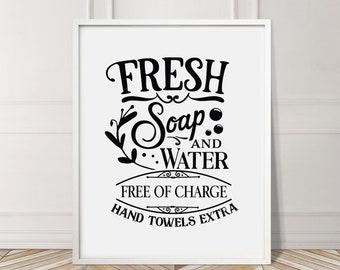 Fresh Soap Water Print