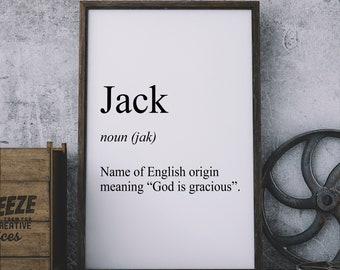 Name Meaning Definition Custom Print