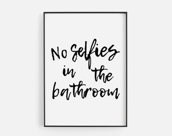 No Selfies Quote Etsy