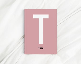 Custom Large Letter Name Pink Diary