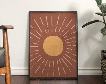 Autumn Sun Abstract Print