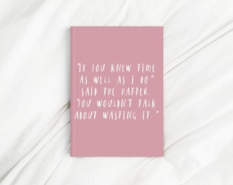 Mad Hatter Quote Pink Print Diary
