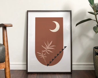 Autumn 'Willow' Abstract Print