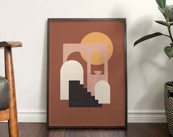 Autumn 'Sienna' Abstract Print