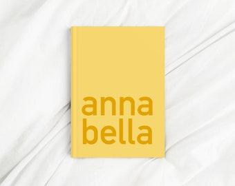 Custom Contrast Corner Name Yellow Letter Print Diary