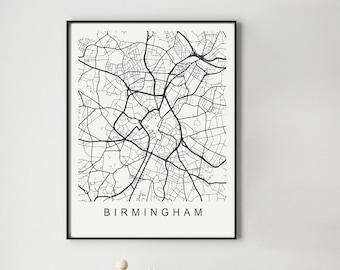 Birmingham Map Print