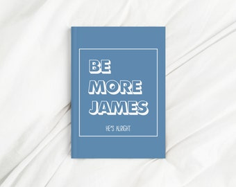 Custom Name Blue Be More Affirmation Diary