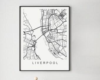 Liverpool Map Print