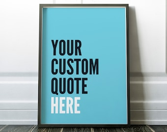 Your Custom Quote Blue Print