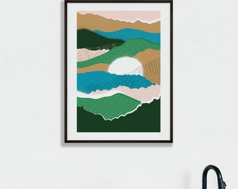 Sun Rise Abstract Print