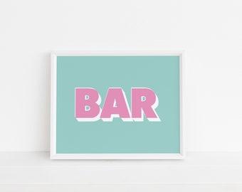 Bar Colour Pop Print