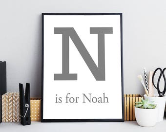 Letter Personalised Name Print