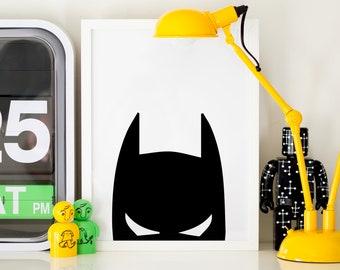 Batman Head Print