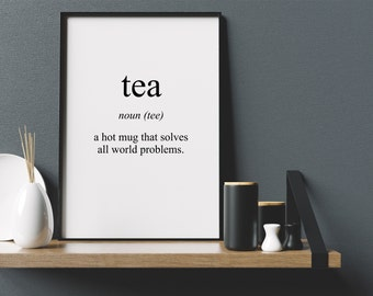 Tea Meaning Print