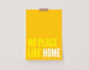 No Place Like Home Yellow Mini Postcard Print