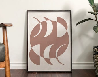 Autumn 'Moon Phases' Abstract Print