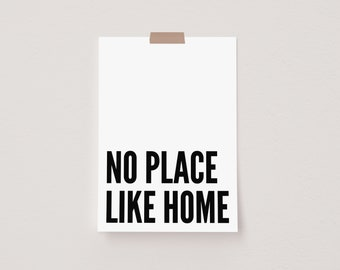 No Place Like Home White Mini Postcard Print