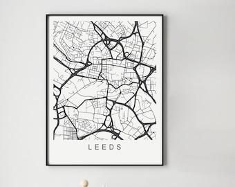 Leeds Map Print