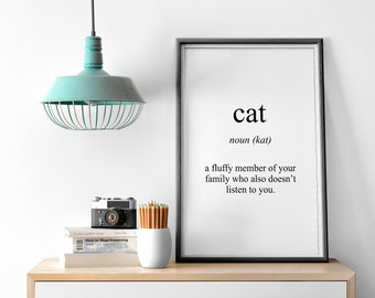 Cat Meaning Print