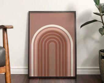 Autumn 'Aubrey' Rainbow Abstract Print