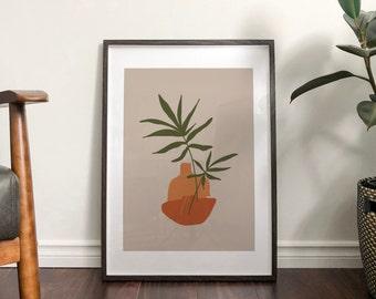 Autumn Plant Abstract Print