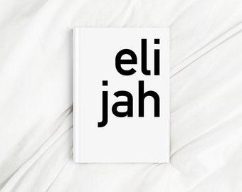 Custom Contrast Corner Name White Letter Print Diary