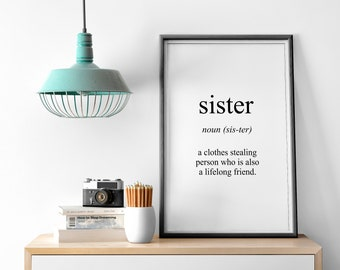 Sister Meaning Print