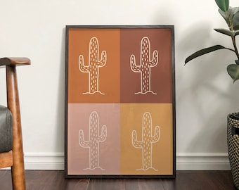 Autumn Cactus Mix Print