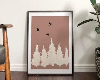 Autumn 'Rowan' Abstract Print