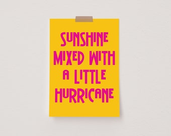 Sunshine Mixed With a Little Hurricane Yellow Mini Postcard Print