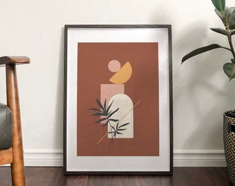Autumn 'Fern' Abstract Print