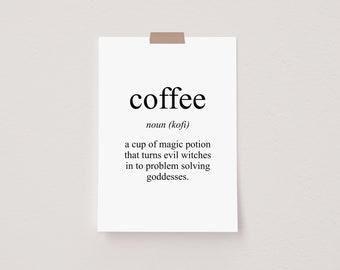 Coffee Meaning Mini Postcard Print