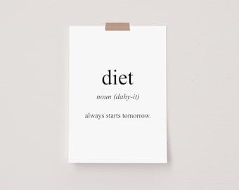 Diet Meaning Mini Postcard Print