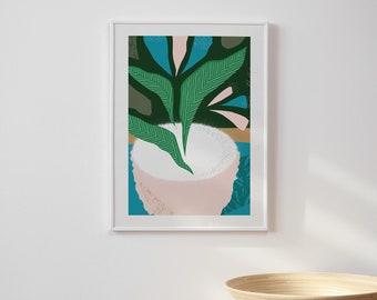 Plant Pot Abstract Print