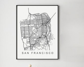 San Francisco Map Print