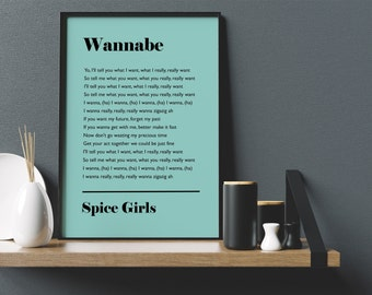 Personalised Song Lyrics Mint Music Print