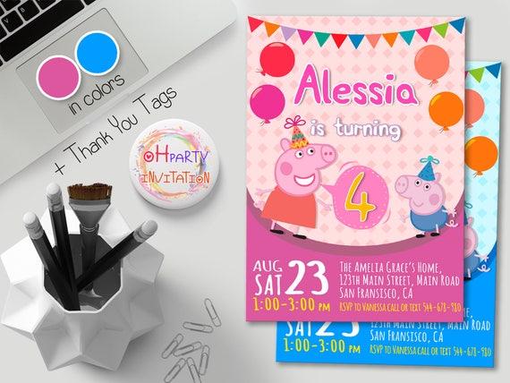 Peppa Pig Girl Invitation Peppa Pig Birthday Invitation Peppa Pig