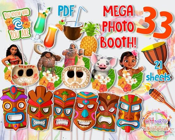 Moana Photo Booth Decorations Birthday Party