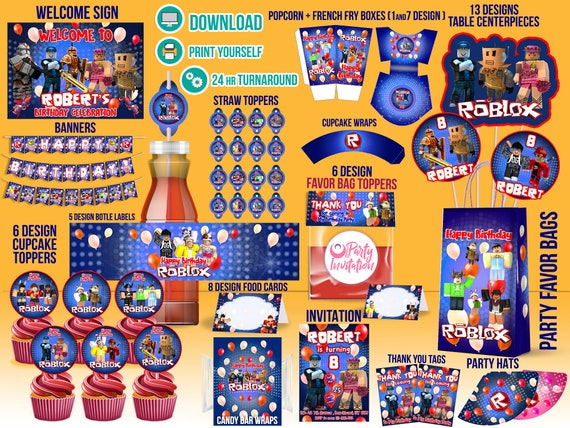 Roblox Birthday Party Printable DOWNLOAD PRINT Supply Boy Decorations