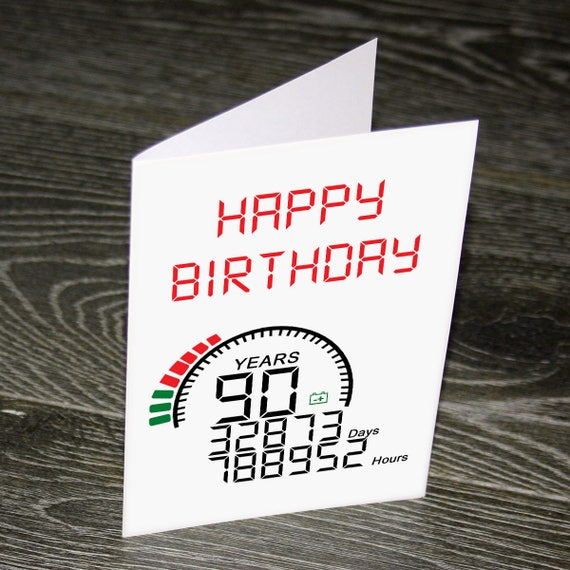 Custom 90 Years Old Birthday Card