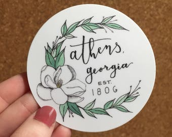 Athens Georgia Magnolia Sticker