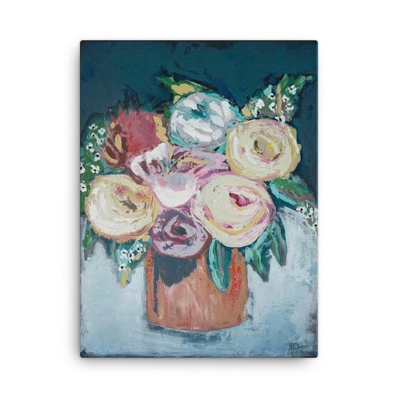 Floral Art Printsfloral Painting Flower Bouquets Flower Art Etsy