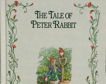 The Tale of Peter Rabbit||vintage 1992 children's book, Beatrix Potter, classic, children's picture book, storybook, nursery decor, art