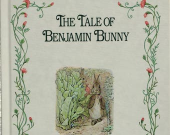 The Tale of Benjamin Bunny||vintage 1992 children's book, Beatrix Potter, classic, children's picture book, storybook, nursery decor, art