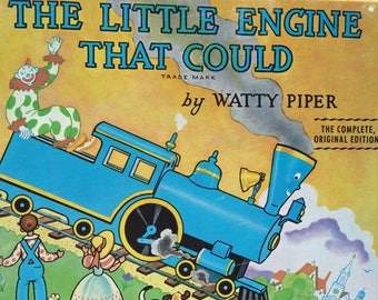 The Little Engine That Could  1998 vintage children's book, Watty Piper, classic book reproduction, picture book, collectible, train book